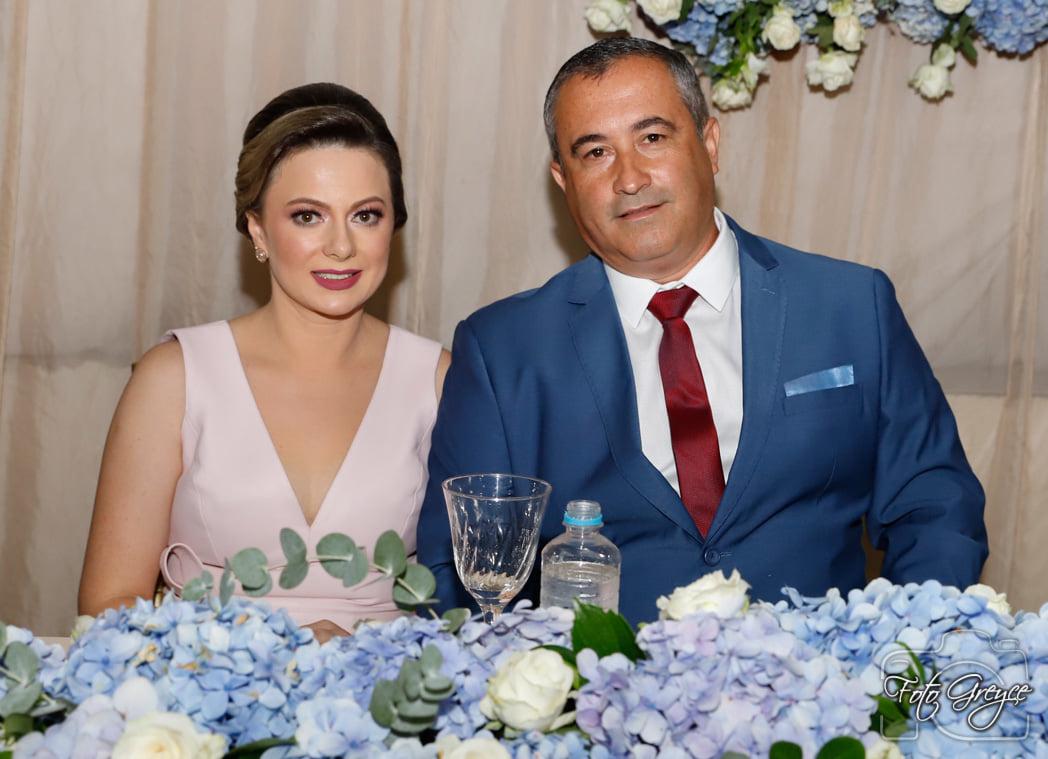 Prefeito Gilmar Sani e a Primeira-Dama, Célia Sani