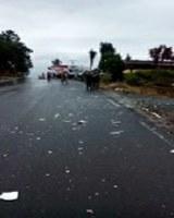 Acidente na SC 350 acesso ao Rio Engano