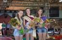 Marcela Back, Francieli Back e Francieli Marian são a Rainha, a Primeira e a Segunda Princesa da 6ª Festa do Colono de Alfredo Wagner